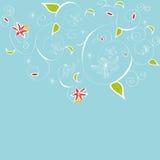 Decoratieve achtergrond met leliebloemen royalty-vrije illustratie