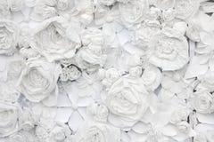 Decoratieve achtergrond van Witboekbloemen Royalty-vrije Stock Fotografie