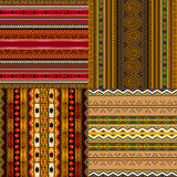 Decoratieve Afrikaanse patronen Stock Fotografie