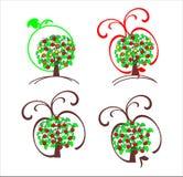 Decoratieve appelboom Royalty-vrije Stock Afbeeldingen