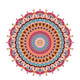 Decoratieve Arabische ronde kant overladen mandala Uitstekend vectorpatroon voor druk of Webontwerp Abstracte Kleurrijk Stock Fotografie