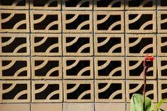 Decoratieve Bakstenen muur op Terras Stock Fotografie