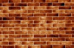 Decoratieve bakstenen muur in oranje toon vector illustratie