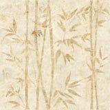 Decoratieve bamboetakken - Binnenlands behang royalty-vrije illustratie