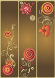 Decoratieve banners Stock Foto