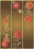 Decoratieve banners Stock Foto
