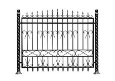 Decoratieve barrière, omheining vector illustratie