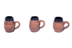 Decoratieve biermokken Royalty-vrije Stock Foto