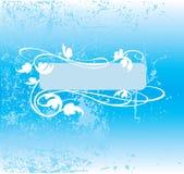 Decoratieve blauwe toonachtergrond Royalty-vrije Stock Foto's