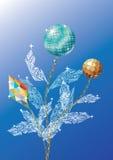Decoratieve bloem. Kerstmis. Royalty-vrije Stock Foto