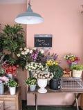 Decoratieve bloem met X-mas signage royalty-vrije stock fotografie