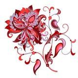 Decoratieve bloem met oosterse stijl Stock Fotografie