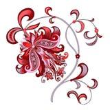 Decoratieve bloem met oosterse stijl Stock Afbeelding