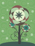 Decoratieve bloem met wervelingen en krullen Royalty-vrije Stock Foto