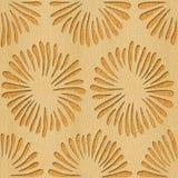 Decoratieve bloemen - Binnenlands behang - Witte Eiken houttextuur stock illustratie