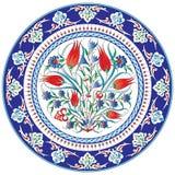 Decoratieve bloemen geschilderde plaat Royalty-vrije Stock Foto's