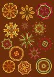 Decoratieve bloemen, vector Stock Foto's