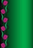 Decoratieve bloemenachtergrond Stock Afbeelding