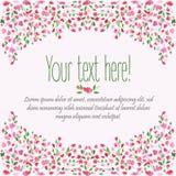 Decoratieve bloemenachtergrond De kaart van de verjaardag Hand getrokken waterverfkader De de lentetijd… nam bladeren, natuurlijk Royalty-vrije Stock Foto's
