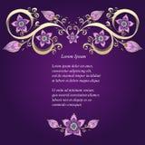 Decoratieve bloemenachtergrond met bloemen Stock Afbeeldingen