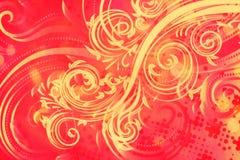 Decoratieve Bloemengrunge-Achtergrond Stock Foto