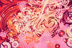 Decoratieve Bloemengrunge-Achtergrond Royalty-vrije Stock Afbeelding