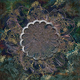Decoratieve bloemenkaderachtergrond Royalty-vrije Stock Foto's