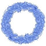 Decoratieve bloemenkroon stock illustratie