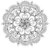 Decoratieve bloemenmandala Stock Foto