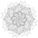 Decoratieve bloemenmandala Royalty-vrije Stock Fotografie