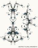 Decoratieve bloemenornamenten vector illustratie