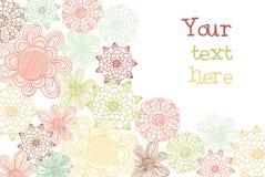 Decoratieve bloemkaart Stock Afbeeldingen