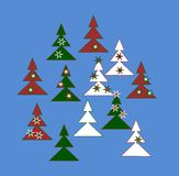 Decoratieve bomen royalty-vrije illustratie