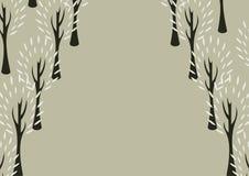 Decoratieve boomachtergrond Stock Fotografie