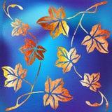 Decoratieve boombladeren - Binnenlands behang stock illustratie