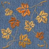 Decoratieve boombladeren - naadloze achtergrond vector illustratie