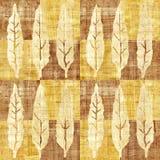 Decoratieve boombladeren - naadloze achtergrond - papyrustextuur royalty-vrije illustratie
