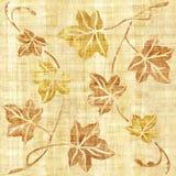 Decoratieve boombladeren - naadloze achtergrond - papyrustextuur vector illustratie