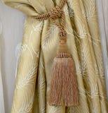Decoratieve borstel voor gordijnen Royalty-vrije Stock Afbeeldingen