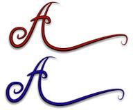 Decoratieve Brief een Embleem van het Web royalty-vrije illustratie