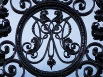 Decoratieve brief M in smeedijzer Stock Afbeelding
