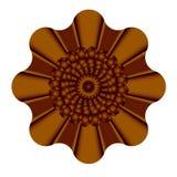 Decoratieve bruine bloem, bloesem, textuur en 3d detail stock illustratie
