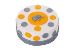 Decoratieve cake met een olifant Stock Foto's