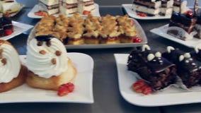Decoratieve cakes stock footage