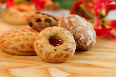 Decoratieve cakes en koekjes royalty-vrije stock afbeelding