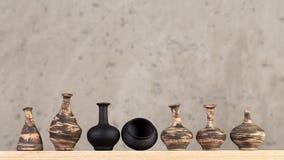 Decoratieve ceramische met de hand gemaakt royalty-vrije stock afbeeldingen
