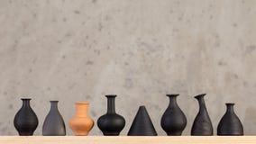 Decoratieve ceramische met de hand gemaakt stock foto