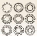 Decoratieve cirkelgrenzen Royalty-vrije Stock Afbeelding