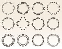 Decoratieve cirkelgrenzen Stock Afbeeldingen