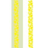 Decoratieve citroengrens stock illustratie